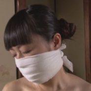 鼻被せ猿轡で呼吸制御・厳重拘束