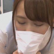 歯科助手白石茉莉奈のマスクフェラ画像