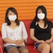 パンストを履いたままウンコを漏らすマスク女子大生二人組