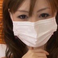 マスク美人なマスク白ギャル。パンストを履いたままお漏らしプレイ&マスクフェラ