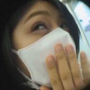 猿轡されるが好きなAV女優にマスクの下にボールギャグをつけコンビニ野外羞恥プレイ