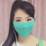 タイトマスクの画像。中国や韓国で使われているフェチなマスク