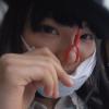 マスクの下に鼻フックをつけられた美少女二人を野外外出で陵辱調教プレイ!
