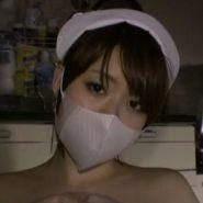 立体マスクをした看護婦のマスク美人