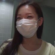 韓国マスク美人と焼肉屋のトイレで変態露出痴女プレイ
