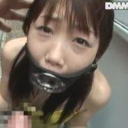 開口マスクでの喉奥イラマチオで口内射精をされ糸を引くオチンポ汁