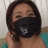 黒マスクのむっちり巨乳人妻とますくしたままセックス