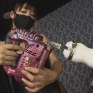 黒マスクの女王様にスクイーズマシンで射精管理・絶頂管理をされるM男