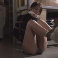 噛ませ猿轡と緊縛をされ監禁拘束される事務員の女の子