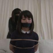 女強盗に縛られ猿轡をされ監禁された有本紗世