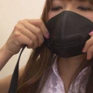 防声具のマスクを着ける波多野結衣のセルフボンデージ