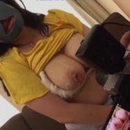ハメ撮り写真を撮られてしまう黒いピッタマスクで顔を隠した巨乳熟女