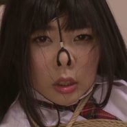鼻フックをされメス豚顔の綾瀬ゆい