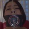 開口マスクを着けアナルセックスされるアナル奴隷のAV動画