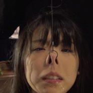 みひなの鼻フック・顔面陵辱