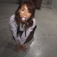 お気に入りの口枷を咥えるメス犬調教の女