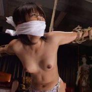 緊縛猿轡でスパンキング調教をされる美女奴隷