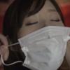 ボールギャグ・猿轡をしてマスクを着用する石原莉奈