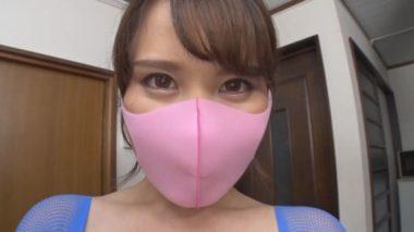 マスクフェチAV:ピンクのピッタマスクをする美熟女