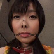 水城ゆうか:鼻フックと口フックをされる美女