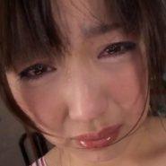 ビンタされ涙を流して泣く美人M女・水城ゆうか