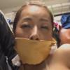 40代美熟女・森下美緒の被せ猿轡と股縄調教