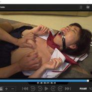 口枷をされながらハメ・セックスのあるフェチ動画