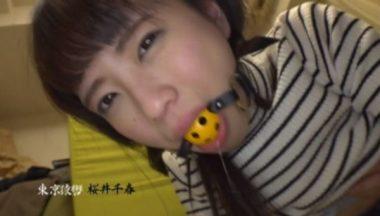 猿轡・口枷マニアな動画でボールギャグをされた女の子