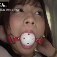 美女のボールギャグ口枷画像