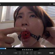 ボールギャグの猿轡をされた志田紗希