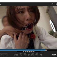 リングギャグをされ首絞めプレイをされる志田紗希