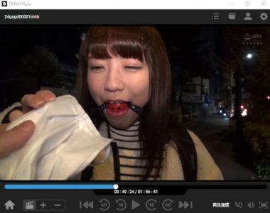 東京猿轡・桜井千春。猿轡をマスクで隠す