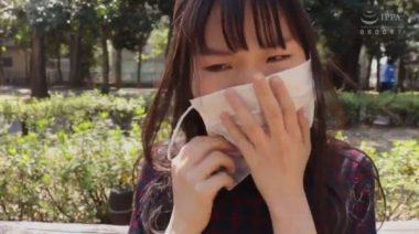 マスクで口枷を隠す病み系女子