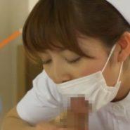 マスクをしたままフェラする看護婦ナース