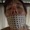 藍川美夏の被せ猿轡と浣腸調教・スカトロ動画