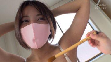 ピンクの立体マスク美人・篠原カレン