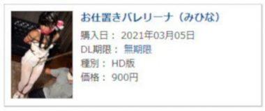 まるかつ監督DUGA作品の購入履歴画像