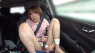 車内でバイブオナニーを命じられる志田紗希