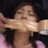 口をガムテープで塞がれレイプされるバレリーナ