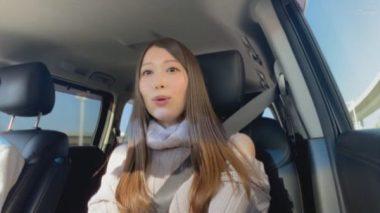 ドライブデート中の佐伯由美香
