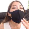 黒イラマスクを着ける佐伯由美香