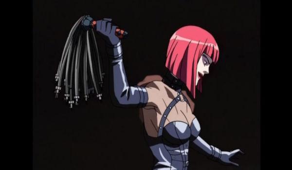 スパイクボールの鞭を振るうカオルコ