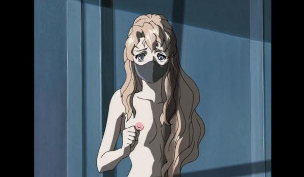 全裸にマスク姿のエルザ